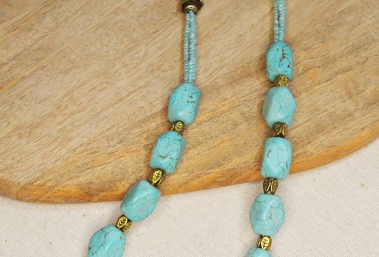 Turquoise ChunkyBeaded Necklace