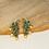 Thumbnail: MORNI - Peacock and Pearl Stone Studded Earrings