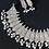 Thumbnail: AJANTA : Premium Quality Silver Alike Choker Length Necklace Set