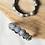 Thumbnail: MANDALA KANGANA - Silver Look Alike Brass Adjustable Motif Bangle