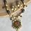 Thumbnail: Amber Kundan and Geru Gold Polish Necklace and Earrings Set