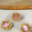 Thumbnail: Carved Coral and Pearl Stud Earrings