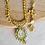 Thumbnail: Meenakari Kundan Tanjore Gold Polish Necklace and Earrings Set