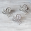 Thumbnail: Musafir Scripted Silver Look-Alilke Earrings