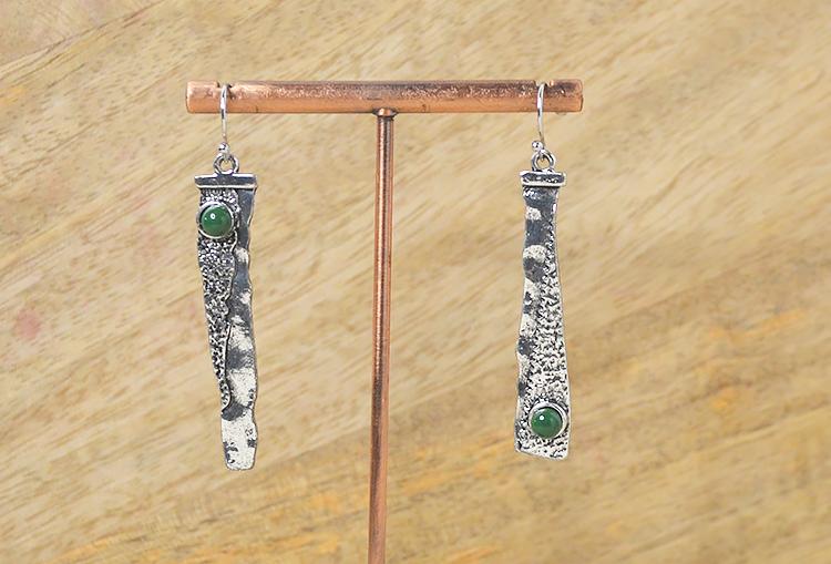 Asymmetric Blade Dangle Earrings