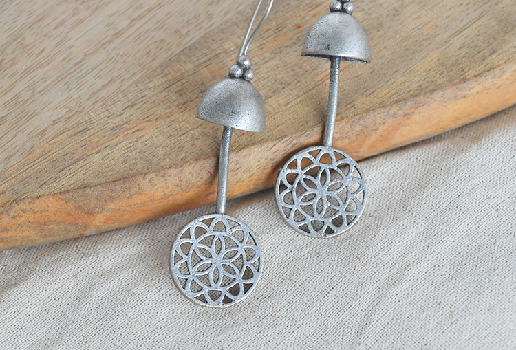 Minimal Bell Dangle Earrings