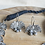 Thumbnail: SAROJ - Silver Look Alike Lotus Necklace and Earrings Set