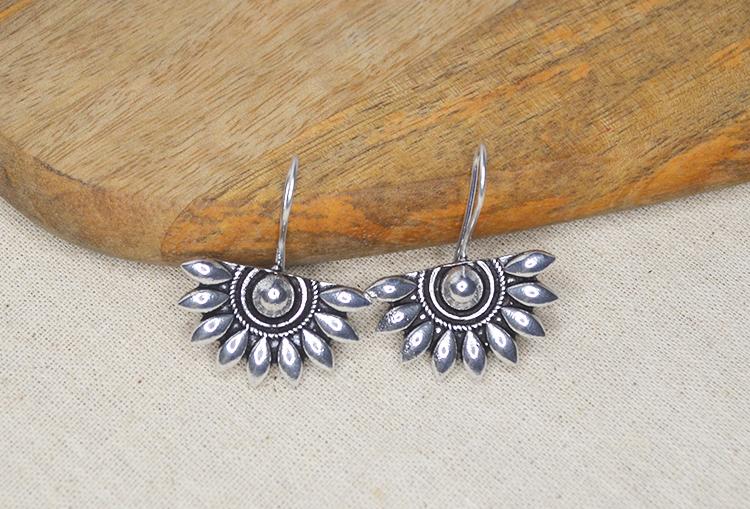 Semi - Flower Drop Earrings