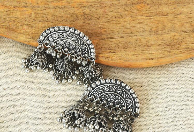 Chandrika Triple Jhumka Earrings