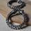 Thumbnail: GAJAHASTI KANGANA - Elephant Motif Silver Look Alike Brass Adjustable Bangle