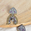 Thumbnail: KALAPI - Peacock Two Tone Brass Earrings