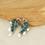 Thumbnail: MORNI - Peacock and Pearl Kemp Stone Studded Silver Tone Earrings