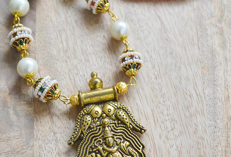 Krishna Meena Pearl Necklace