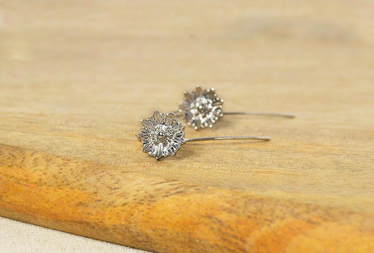 JASMINE - Copper Based Silver Finish Earrings