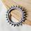 Thumbnail: ASHOKA KANGANA - Spoke Motif Silver Look Alike Brass Adjustable Bangle