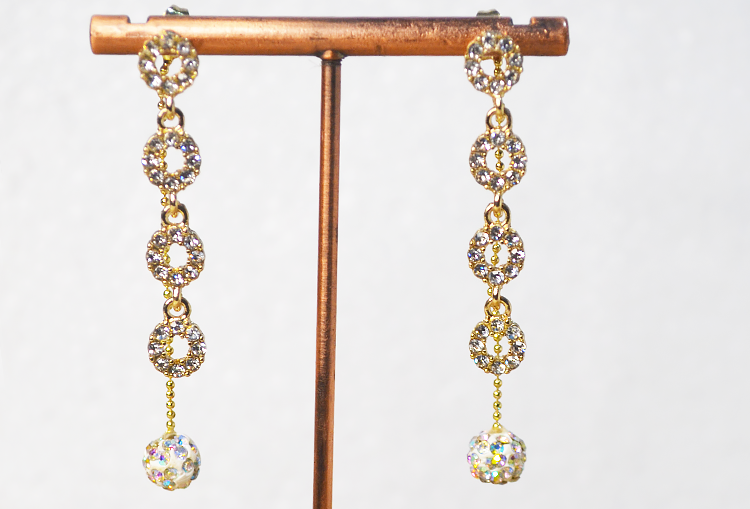 Two-way Rhinestone Dangler Earrings