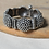 Thumbnail: BOONDI KANGANA - Brass Silver Look Alike Adjustable Bangle