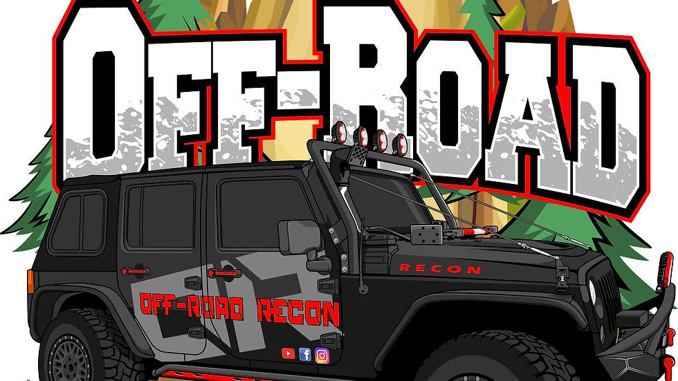 Cartoon Jeep art sticker