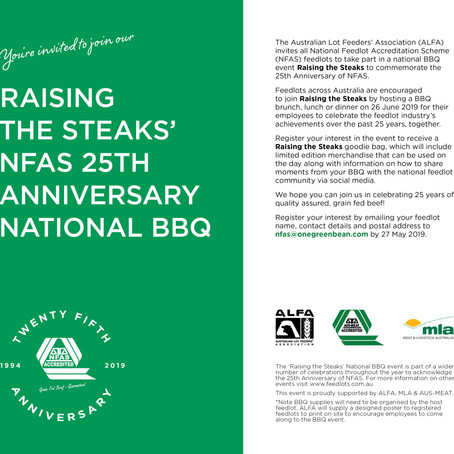 The feedlot industry is 'Raising the Steaks' in celebration on 26 June