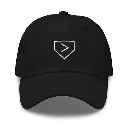 Gorra de papá More Than Baseball (logotipo del plato de home)