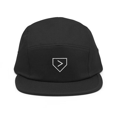 Gorra de cinco paneles More Than Baseball (logotipo del plato de home)