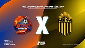 Rosário e Fox fazem duelo histórico na decisão do Campinão Série A 2019