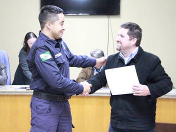 Serginho homenageia a Guarda Municipal
