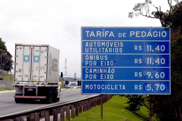 Pedágio no Paraná vai subir até 10% em Dezembro