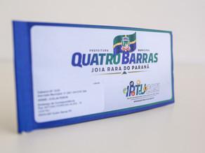 Quatro Barras: prefeitura inicia entrega de carnês do IPTU 2021