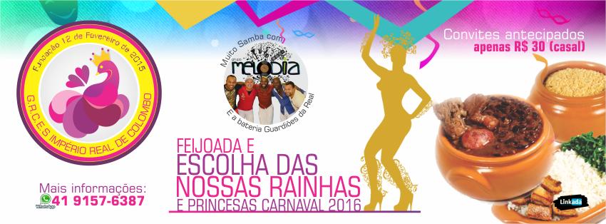 Escola de Samba Império Real de Colombo agita Colombo no próximo domingo