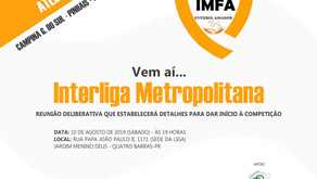 Vem aí a Interliga Metropolitana de Futebol Amador
