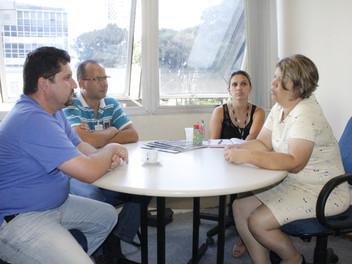 Serginho e vereadora Katia, ativista da causa animal de Curitiba, se reúnem para tratar sobre o tema
