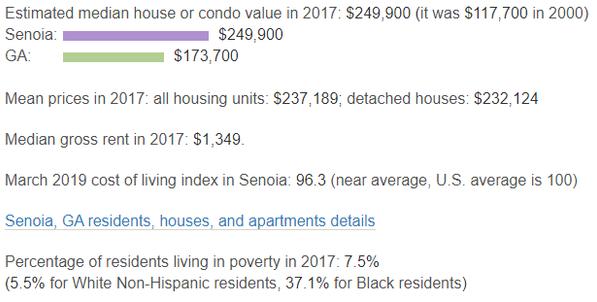 city data for income of senoia
