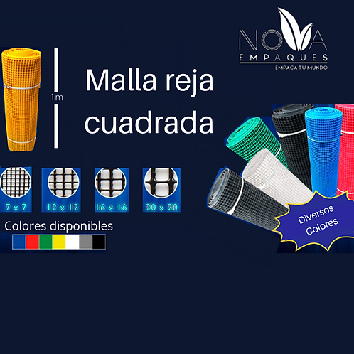 MALLA PLÁSTICA CUADRADA 7X7