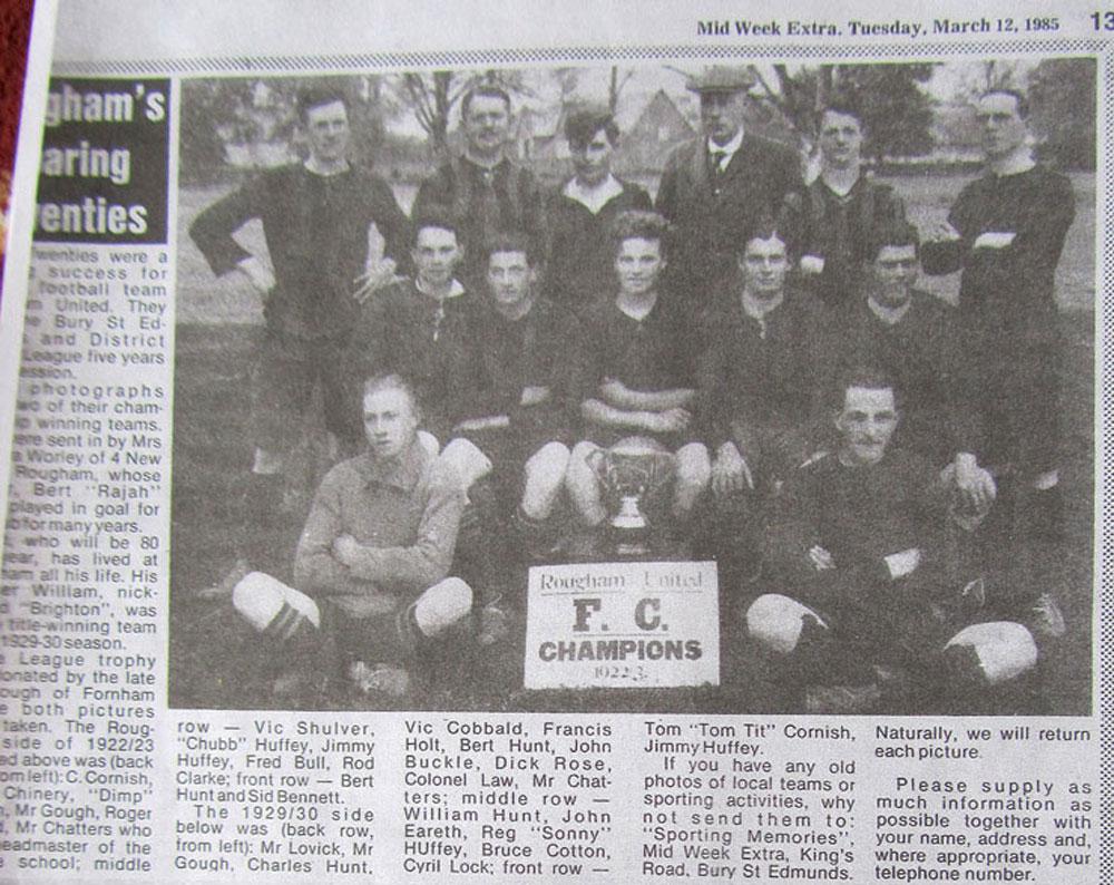 Rougham U Football 1922