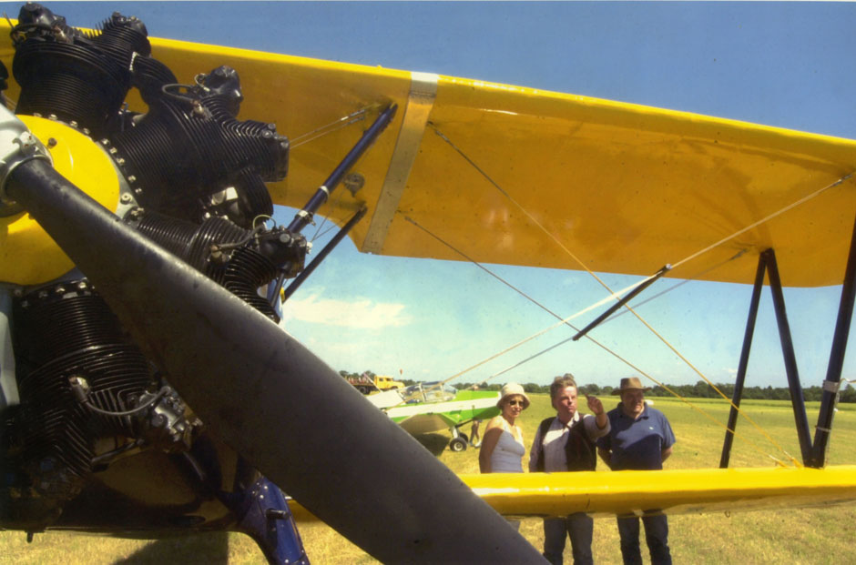Airfield show, John Agnew (centre)
