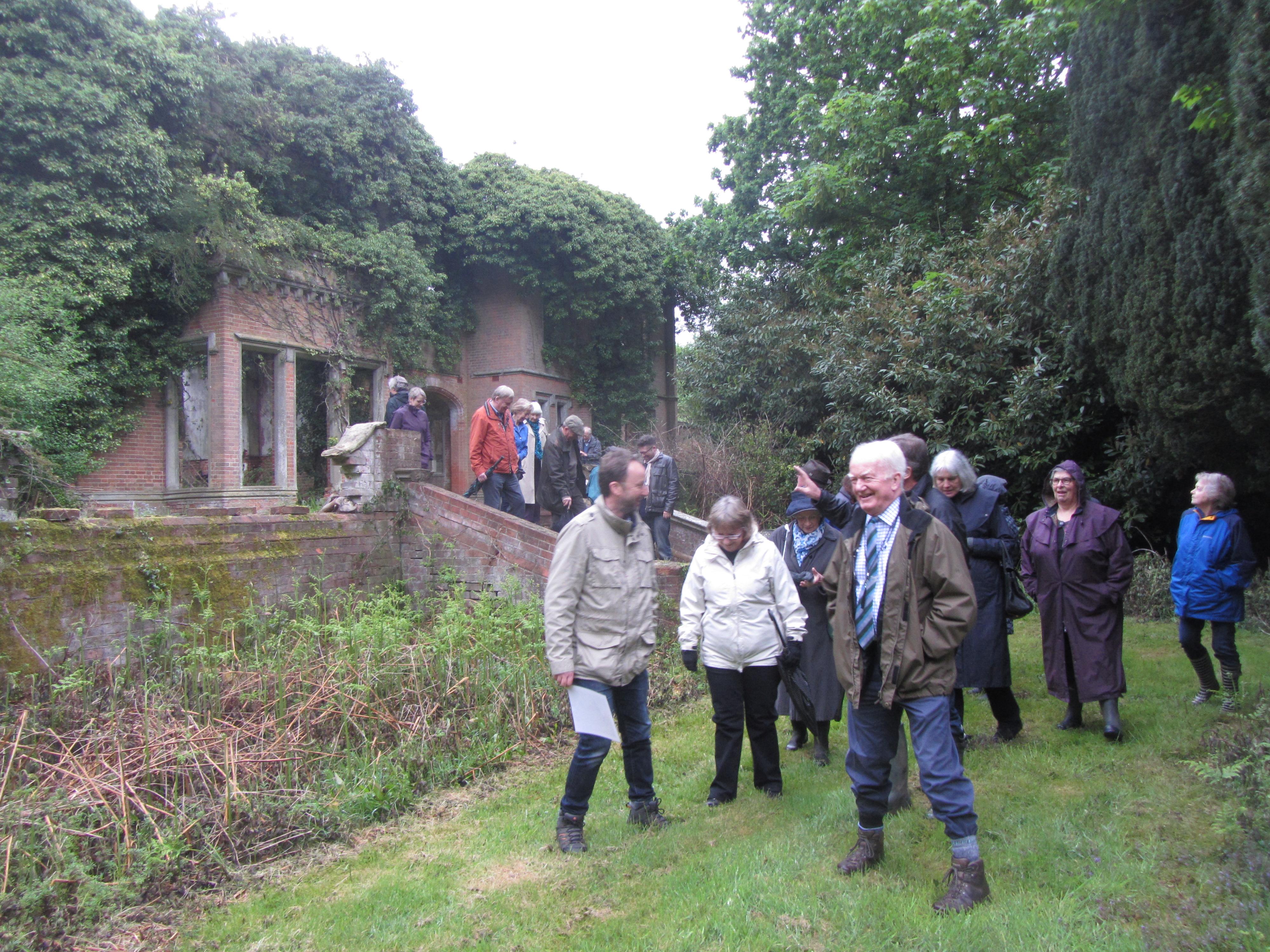 Lavenham society may 2016 visit to Rougham hall