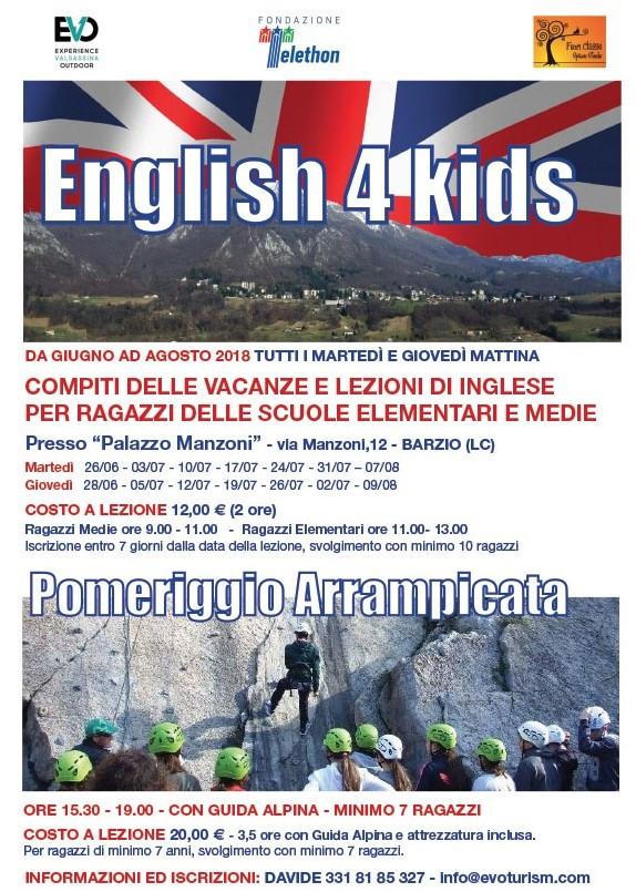 ENGLISH 4 KIDS + ARRAMPICATA