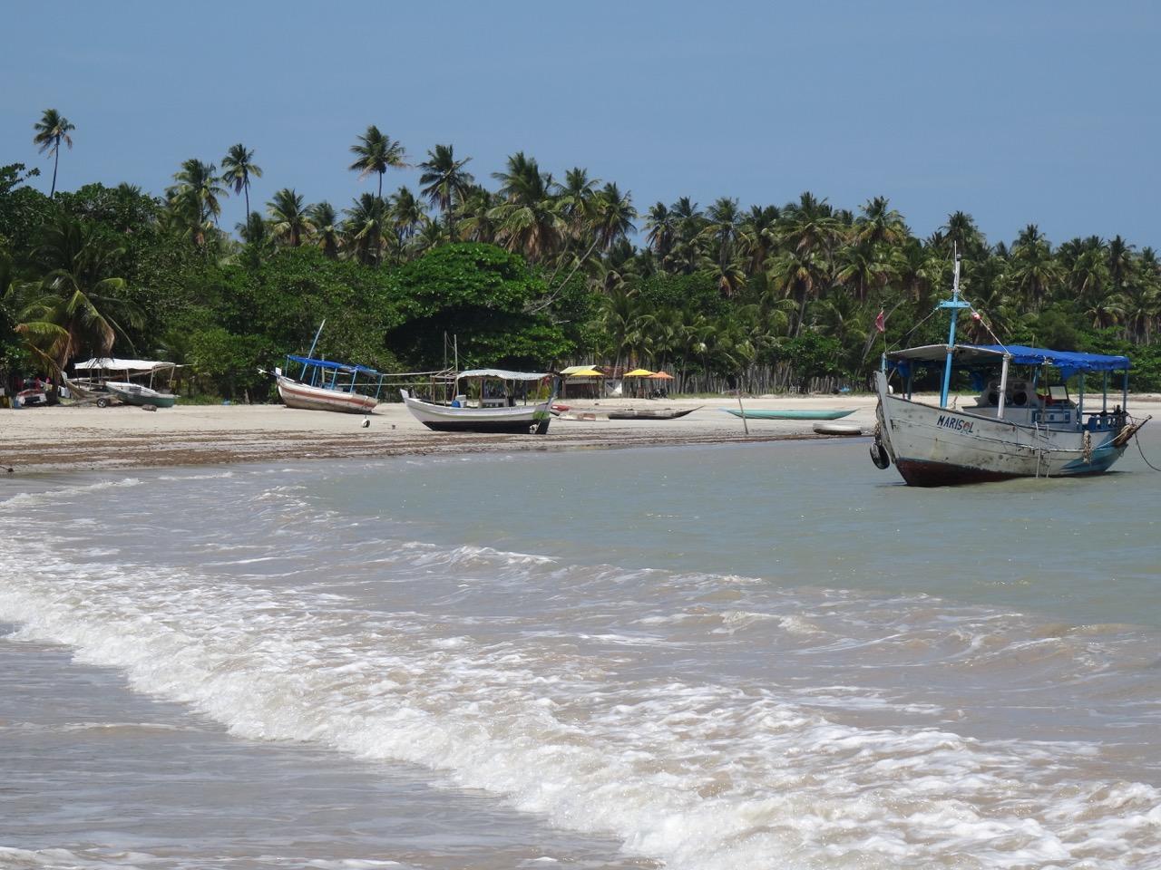 Les bateaux de pêche à Boipeba