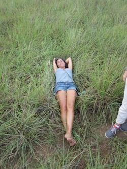 Repos contemplation dans la prairie