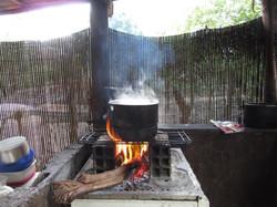Atelier de cuisine - feu de bois