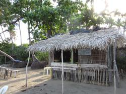 Quiosque-restaurant à la plage