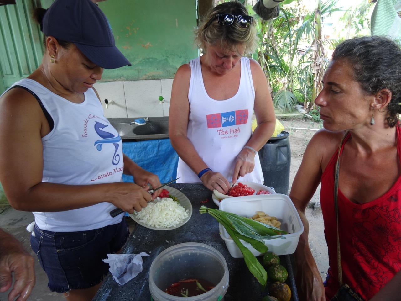 Atelier de cuisine à Boipeba