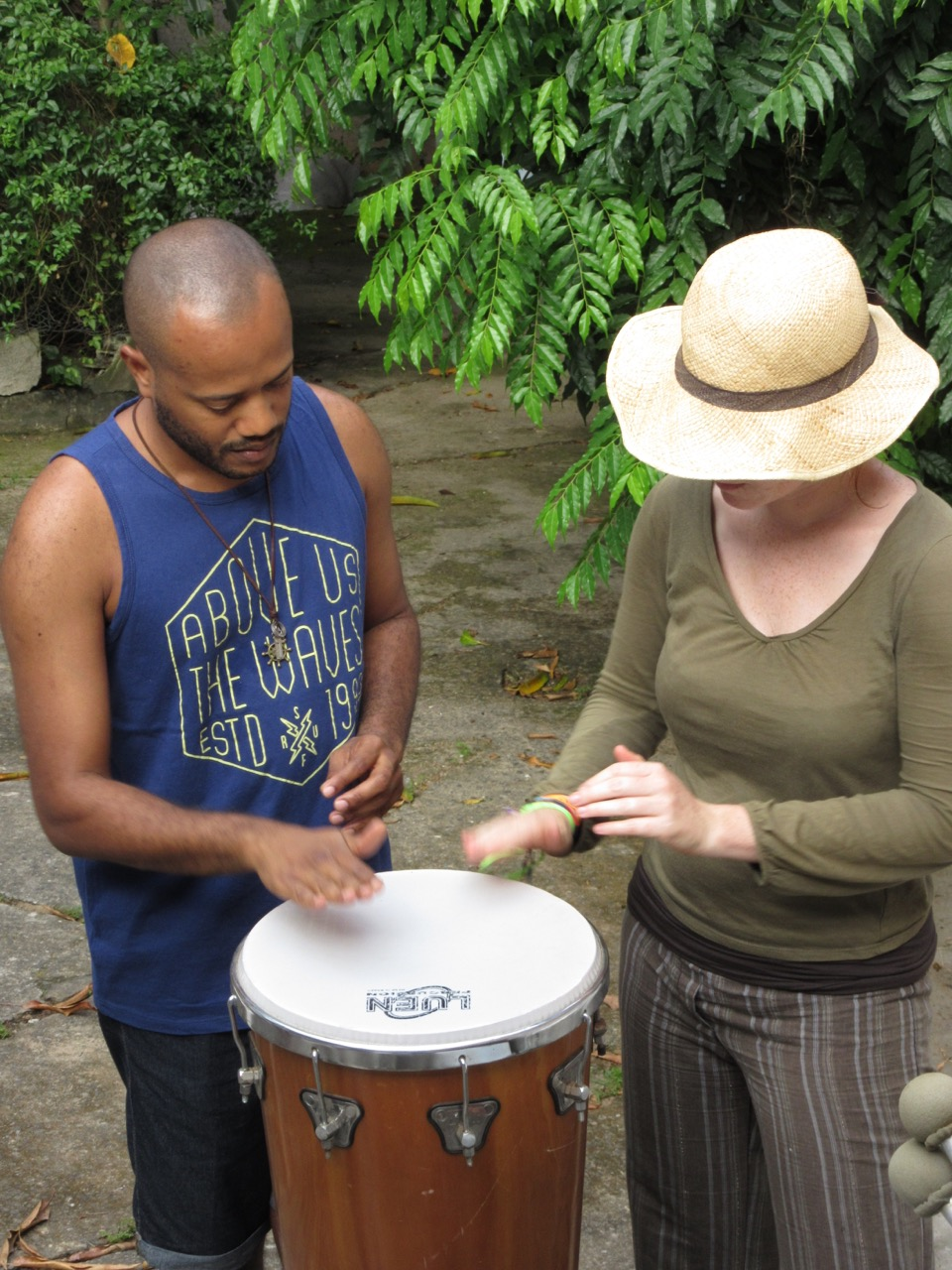 Atelier de percussion à Salvador