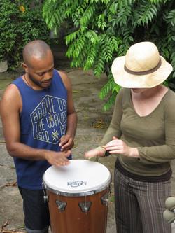 Atelier de percussion à Salvador