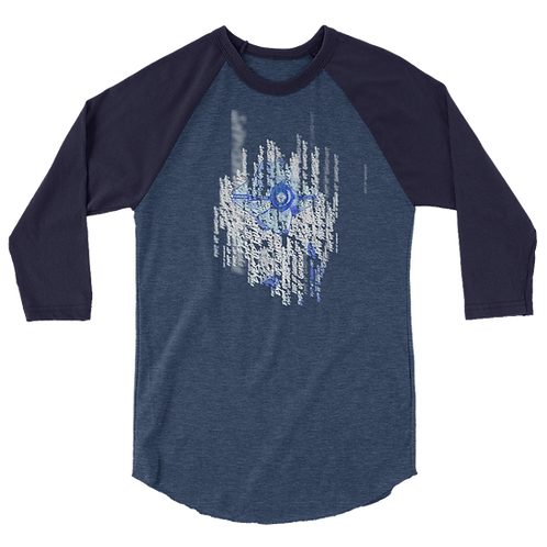 """EYES UP GUARDIAN"" LostDrake Exclusive Destiny Design 3/4 Sleeve Raglan Shirt"