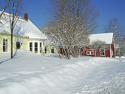 1828 Snowfall in a Blue Sky.webp