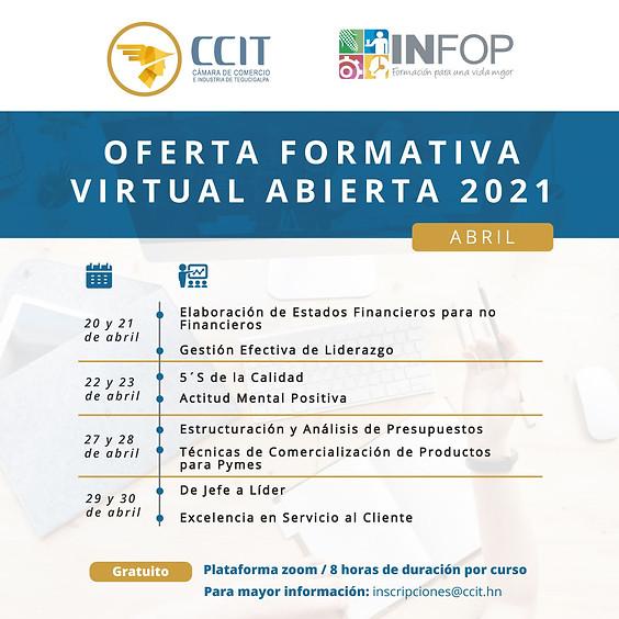 Oferta formativa virtual abierta - abril 2021