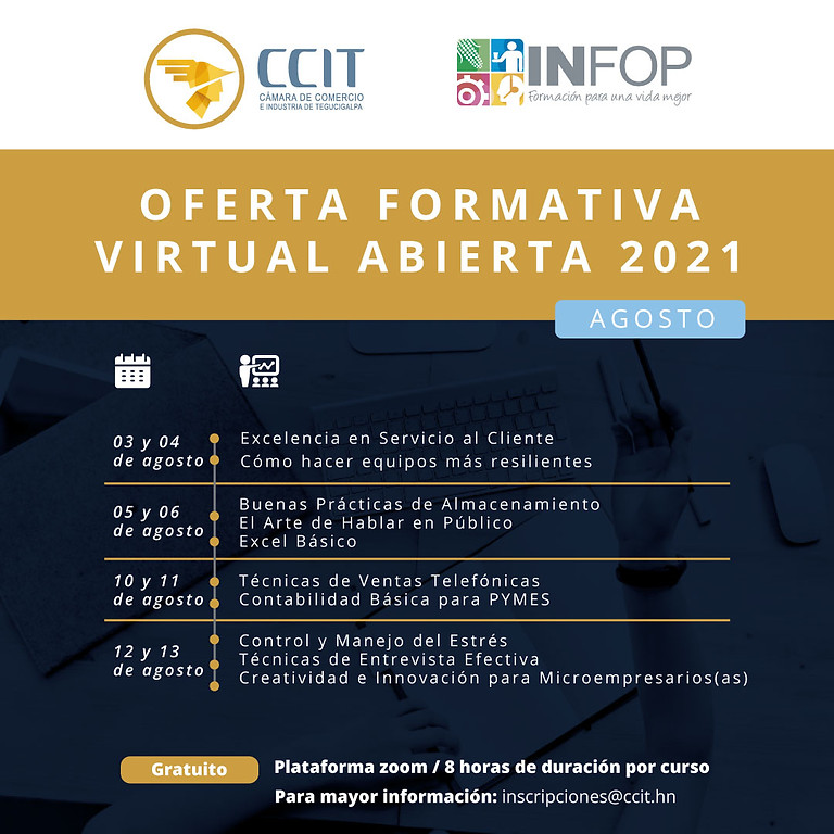 Oferta formativa virtual abierta - agosto