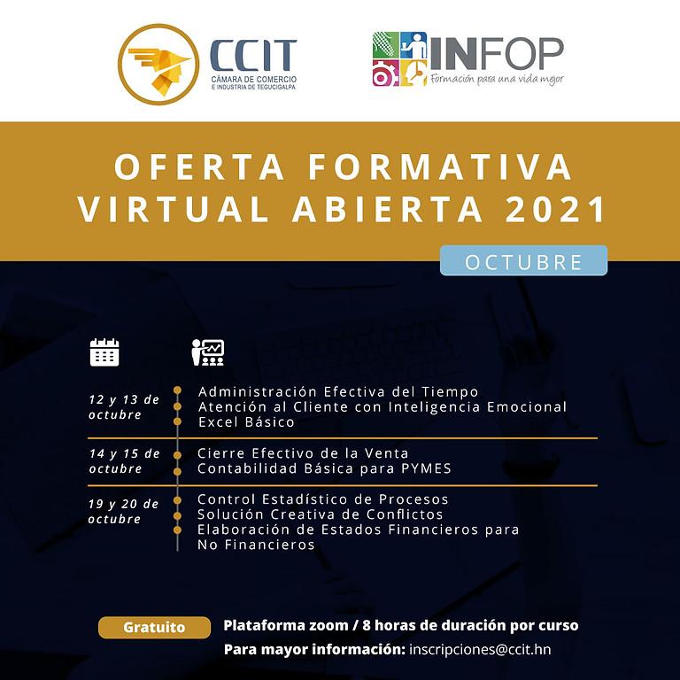 Oferta formativa virtual abierta - del 12 al 20 de octubre